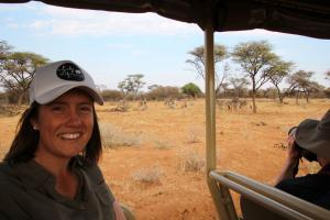 Jess on a game drive