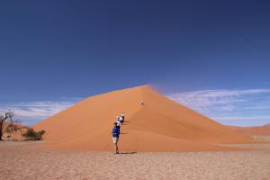 Off climbing the dunes