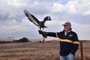 John at the Wild Bird Park Dullstroom, South Africa