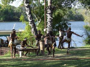 Tribal dancers at Victoria Falls