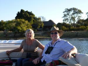 Relaxing on the Zambezi River