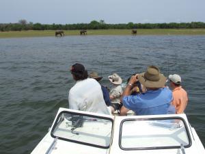 Boating at Lake Kariba