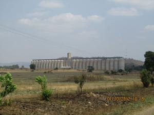 Grain silos in Zimbabwe - pity their ag industry cant fill them these days...