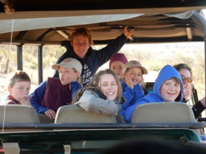 Family fun in the bush