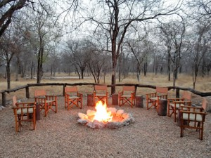 Campfire in Etosha Park, Namibia