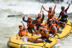 White Water rafting Zambezi River